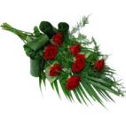 Rouwboeket rode rozen