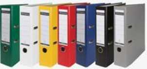 Pergamy ordner, voor ft A4, uit PP en papier, rug van 8 cm, geassorteerde kleuren