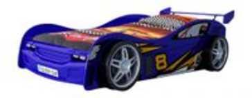 Night Racer Car bed blauw