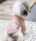 Gebreide trui roze voor de hond