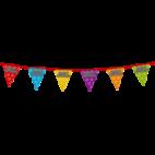 Holografische vlaggenlijn 8 m met het happy birthday