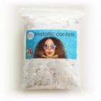 Confetti metallic round 10mm - 250 gram - white