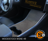 Tesla Model 3 Console stickerset Brushed Steel Dark Silver