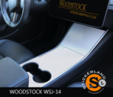 Tesla Model 3 Console stickerset Whitewood Houtmotief