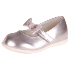 Meisjesschoen zilver met strass strikje-23
