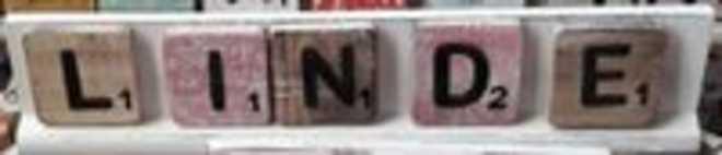 Scrabble letterplankje 40 cm