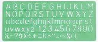 Linex 100412304 belettering Letter, number & symbol stencil Groen Polypropyleen