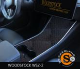 Tesla Model 3 Console stickerset Metallic Black Blocked Shadow