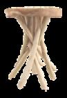 Kruk Branch - ø35 cm - licht teakhout