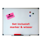 Whiteboard 120x150cm set