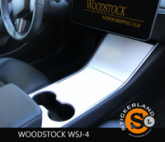 Tesla Model 3 Console stickerset Glossy White