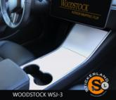 Tesla Model 3 Console stickerset Matte White