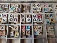 Losse Scrabble letters x5