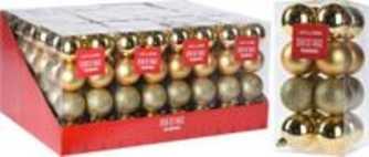 Kerstballen set 16x50mm goud