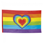 Polyester flag rainbow - size flag: 90x150cm