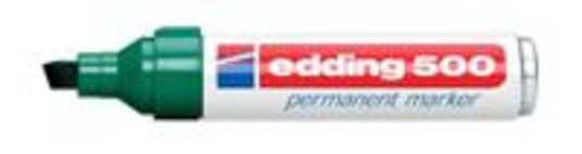 Edding Permanent marker edding 500 Groen Watervast: Ja 4-500004