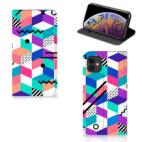 Apple iPhone 11 Stand Case Blokken Kleurrijk