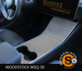 Tesla Model 3 Console stickerset Brushed Steel Silver