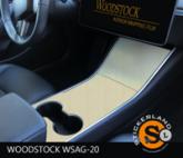 Tesla Model 3 Console stickerset Creme Beuken Houtmotief