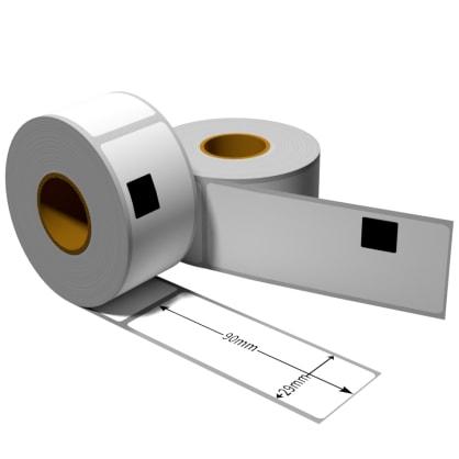 Label für Brother DK11201 29 x 90 mm DK11201 Label mit wiederverwendbarer Wechselhalterung