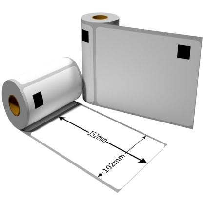 Label kompat. zu Brother DK11241 102 x 152mm mit wiederverwendbarer Wechselhalterung