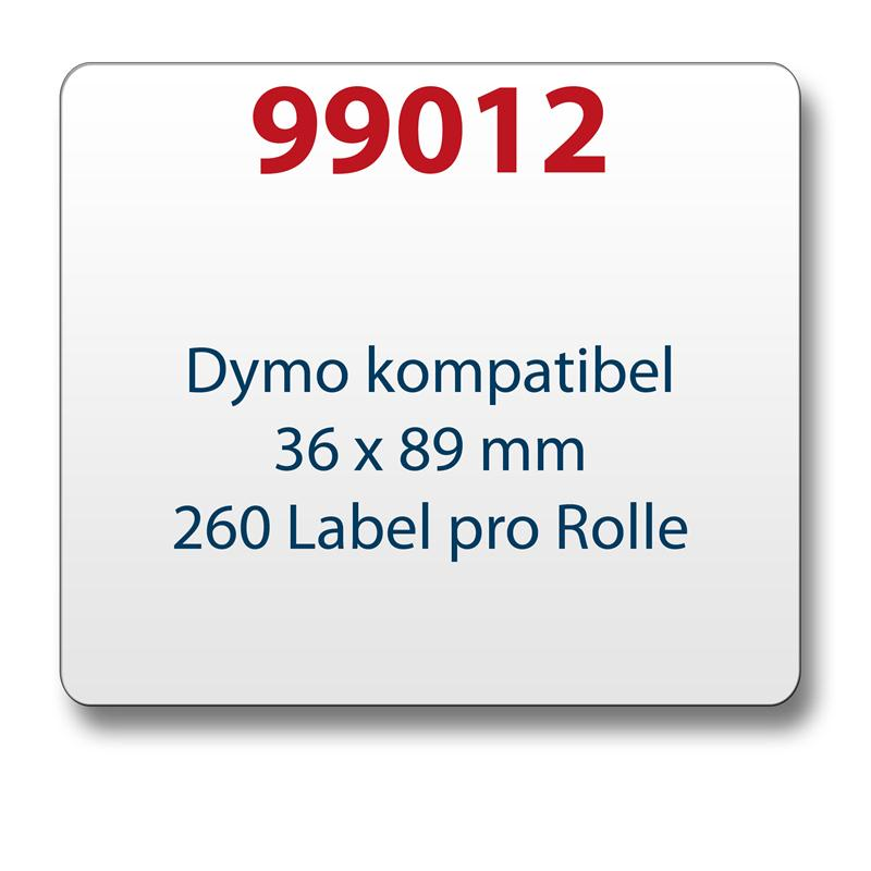 1x label compatible with the Dymo 99012 36 x 89 mm 260 labels per roll
