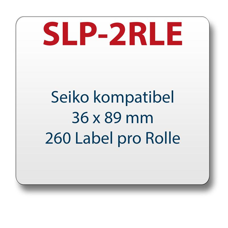 1x label compatible with Seiko SLP-2RLE 36 x 89 mm 260 labels per roll