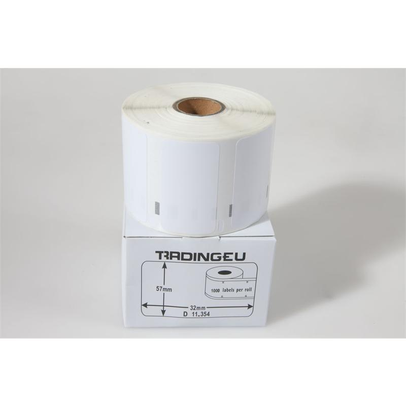 1x label compatible with the Dymo 11354 57 x 32 mm 1000 labels per roll