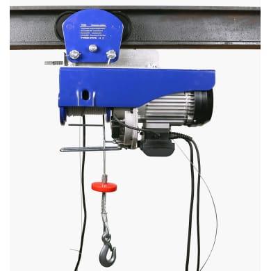 Elektro-Seilwinde mit Laufkatze 300 kg / 600 kg Tragkraft,  12 m / 6 m