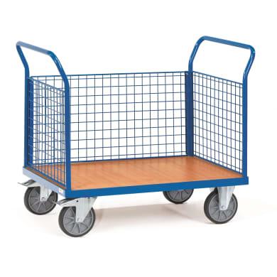 Fetra Dreiwandwagen mit Drahtgitterwänden - Kapazität 600 kg