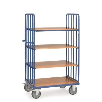 Fetra Etagenwagen mit Streben - Kapazität 600kg - 4 Holzböden