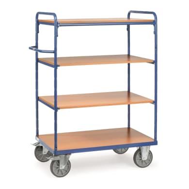 Fetra Etagenwagen mit Böden - Kapazität 600kg - 4 Holzböden