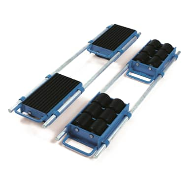 Fetra Fahrwerk, verstellbar  6952 Tragplatte 360 x 220 mm, 12 to.