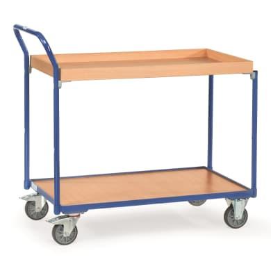 Fetra Tischwagen - Kapazität 300 kg - 1 Boden/1 Kasten - Griff hochstehend