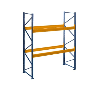 Palettenregal - 2.50 m Höhe - 2.00 m Länge - 2 Ebene/n - für 6 Stellplätze