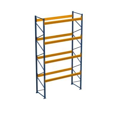 Palettenregal - 2.50 m Höhe - 2.00 m Länge - 4 Ebene/n - für 10 Stellplätze