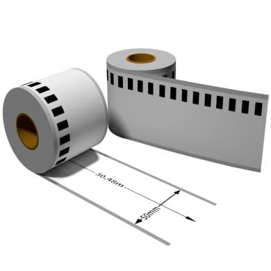 Label kompat. zu Brother DK22223 50mm x 30,48m mit wiederverwendbarer Wechselhalterung