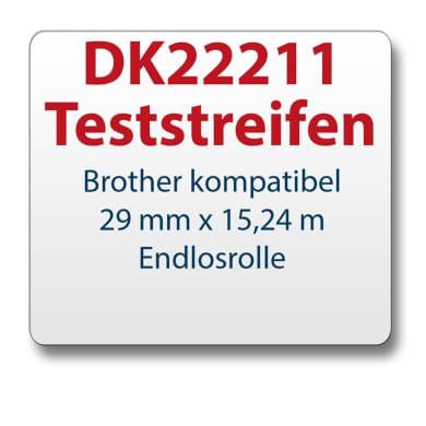 Test strips Brother label DK22211 29mmx15,24m