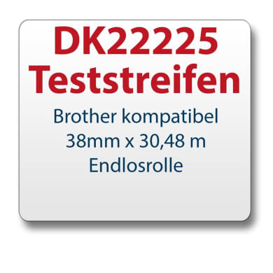 Test strips Brother label DK22225 38mmx30,48m