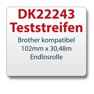 Test strips Brother label DK22243 102mmx30,48m