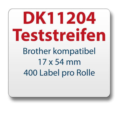 Test strips Brother-compatible label DK11204 17x54mm