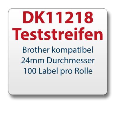 Test strips Brother-compatible label DK11218 d=24mm