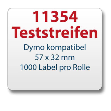 Test strips Dymo-compatible label 11354 57x32mm