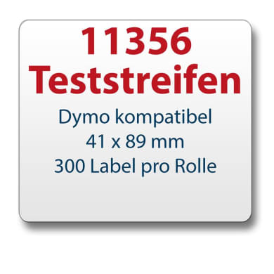 Test strips Dymo-compatible label 11356 41x89mm