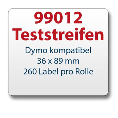 Test strips Dymo-compatible label 99012 36x89mm