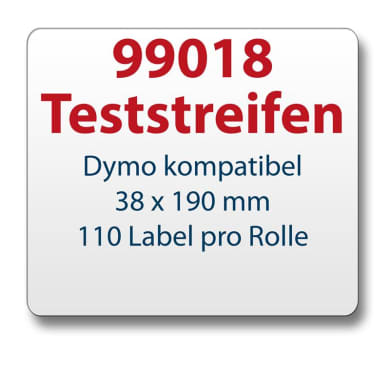 Test strips Dymo-compatible label 99018 38x190mm