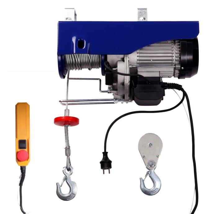 Elektrische Seilwinde mini Tragkraft 250 kg/500 kg 12 m/6 m 230 V