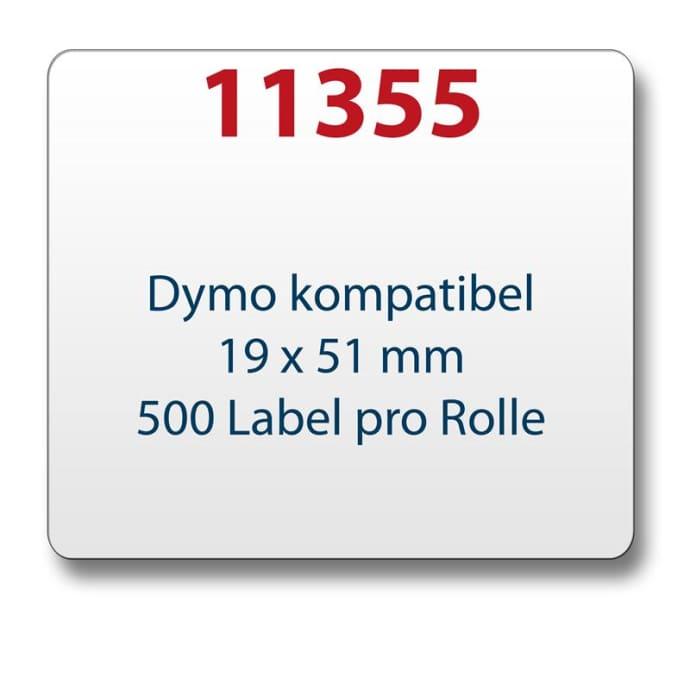50 Rollen 11355 19mm x 51mm 500 Etiketten//Rolle Vielzweck-Etiketten kompatibel f/ür Dymo LabelWriter 4XL 450 400 330 320 310 Twin Turbo Duo Seiko SLP 450 430 420 410 400 240 220 200 120 100 Pro Plus