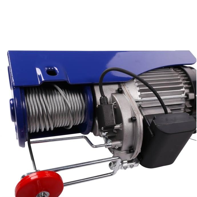 Elektrische Seilwinde mini Tragkraft 400 kg/800 kg 12 m/6 m, 230 V