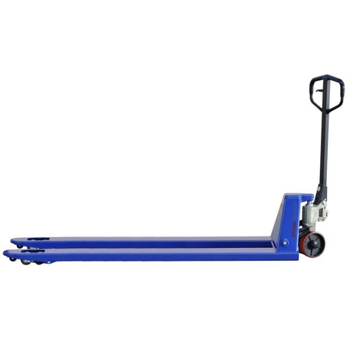 Hubwagen lang für 2000 kg | Gabellänge 2000 mm blau